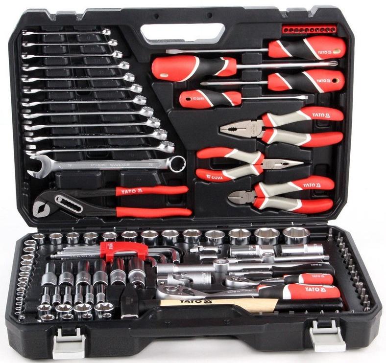 Yato YT-38901 Tool Set 1/4'' 1/2'' 122pcs