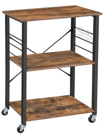 Songmics Kitchen Storage Rack Brown/Black