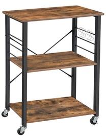 Songmics Kitchen Storage Rack Brown/Black