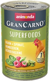 Animonda GranCarno Superfoods Dog Wet Food With Chicken 400g