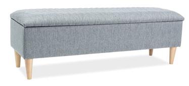 Pufas Signal Meble Azurro Grey, 129x40x45 cm