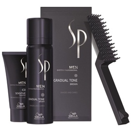 Wella Sp Men Gradual Tone Brown Foam 60ml  & 30ml Shampoo