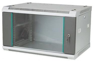 """A-LAN Rack Cabinet 19"""" 4U SW-4U-600-450-N-DSJ-OP-RP-B-S"""