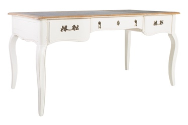 Home4you Elizabeth 2 Writing Desk Antique White/Brown