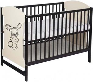 Minikid Miki Baby Bed 104 Venge/Cream Bunny