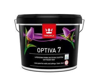 Vandeniniai akriliniai dažai Tikkurila Optiva 7 BA, balti, 9 l