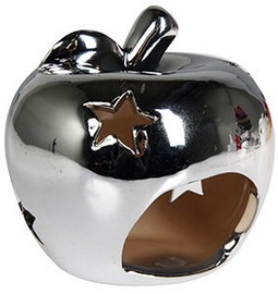 Verners Candle Holder Apple 10x9cm Silver