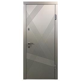 Lauko durys 163V, pilkos, 2050 x 860 mm, kairinės