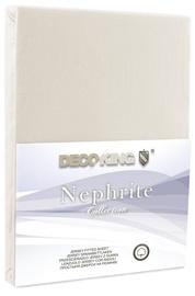 Palags DecoKing Nephrite, bēša, 90x200 cm, ar gumiju