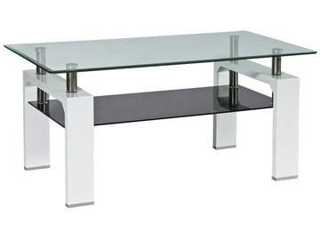 Kafijas galdiņš Signal Meble Modern Lisa Basic II White/Black, 1000x600x550 mm
