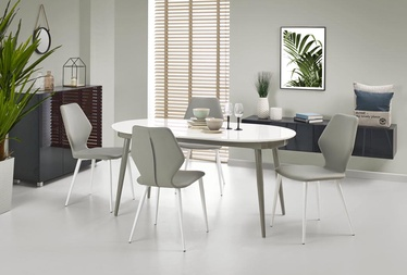 Halmar Dining Table Crispin White Gray