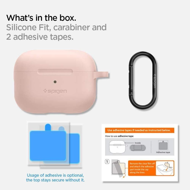 Spigen Silicone Fit Case For Apple AirPods Pro Pink