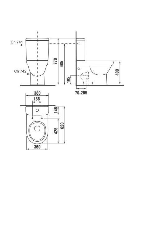 Tualetes poda tvertne Jika Tigo 828212