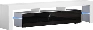 TV staliukas Pro Meble Milano 200 White/Black, 2000x350x450 mm