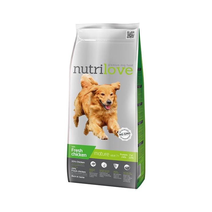 Сухой корм для собак Nutrilove Complete Dry Food Mature Dogs Chicken 3kg