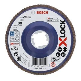 KETAS LAMELL 125MM 80 BOSCH X-LOCK