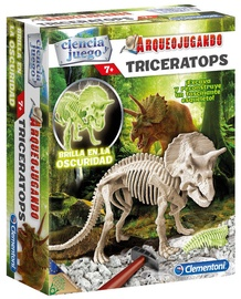 Clementoni Archeofun Triceratops Glow In The Dark 60428