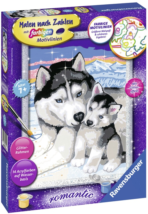 Ravensburger Painting By Numbers Romantic Husky 284795