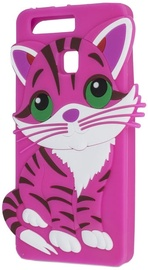 Forcell Soft Silicone 3D Back Case For HTC Desire 530/626/630 Pink Cat
