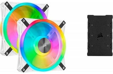 Corsair iCUE QL140 RGB PWM Fan White Pack of 2 w/Controller