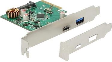 Delock PCIe x4 to USB 3.1 Type-C + Type-A