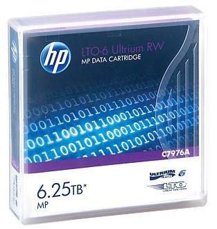 HP LTO-6 Ultrium 6.25TB MP RW C7976A