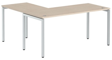 Skyland Corner Table XSCT 1615 Oak Tiara/Aluminum