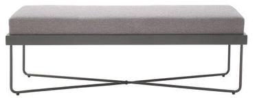 Meise Möbel Metal Bed Bench Light Grey