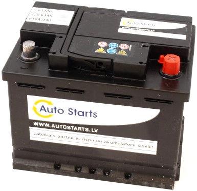 Аккумулятор Auto Starts, 12 В, 63 Ач, 610 а