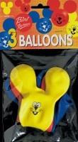 Воздушный шар VIBORG Rabbit, синий/красный/желтый, 3 шт.