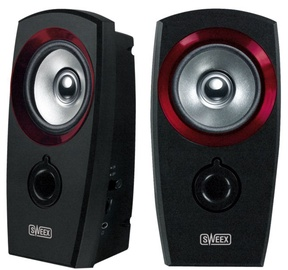 Sweex SP041 USB 2.0 Speaker Set Black/Red