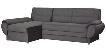 Bodzio Livonia Left Corner Folding Sofa Velor Dark Gray