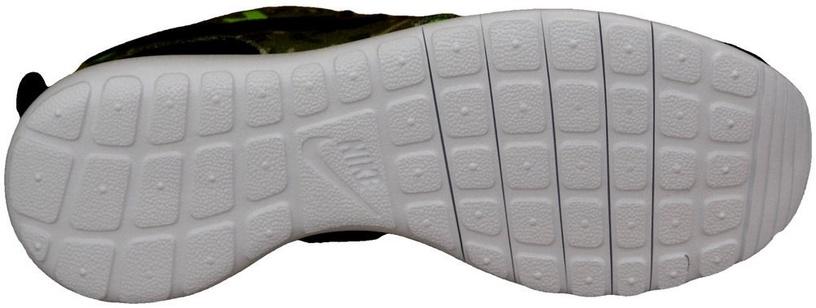 Nike Running Shoes Roshe One Print Gs 677782-008 Black/Green 39