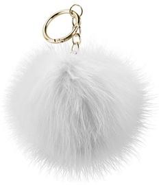 Apgaismojums Beeyo Soft Fluffy Ring The Pompom & Smartphone Finger Holder White/Gold