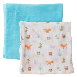 Summer Infant SwaddleMe Muslin Blankets 2pcs Camping Friends