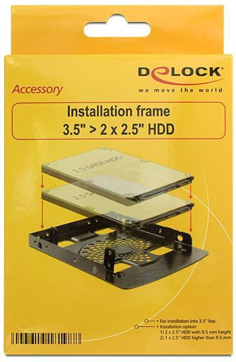 Delock Installation Frame 3.5 / 2x 2.5 HDD