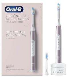 Электрическая зубная щетка Braun Pulsonic Slim Luxe 4100, розовый