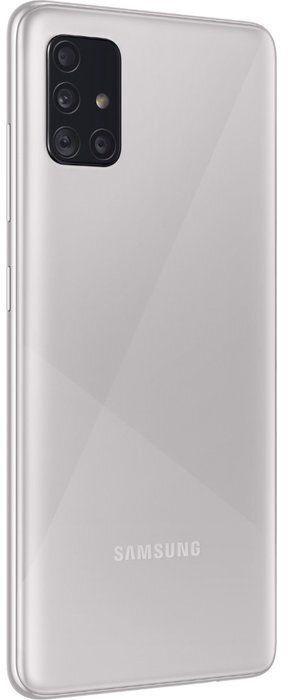 Mobilusis telefonas Samsung Galaxy A51 SM-A515 Haze Crush Silver, 128 GB