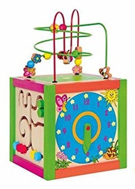 Woodyland Multi Activity Instructional Labyrinth Cube 90837