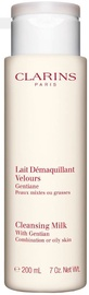 Makiažo valiklis Clarins Cleansing Milk With Gentian Combination & Oily Skin, 200 ml