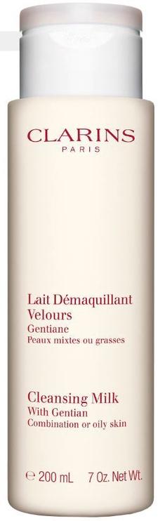 Makiažo valiklis Clarins Cleansing Milk With Gentian Combination & Oily Skin, 200 ml