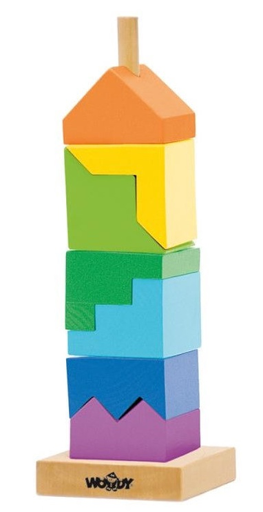 Woodyland Educational Color Stacking Tower 9pcs 91102
