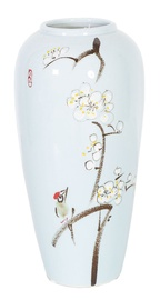 Home4you Yoko Ceramic Vase Cherry Blossoms H28cm Light Blue