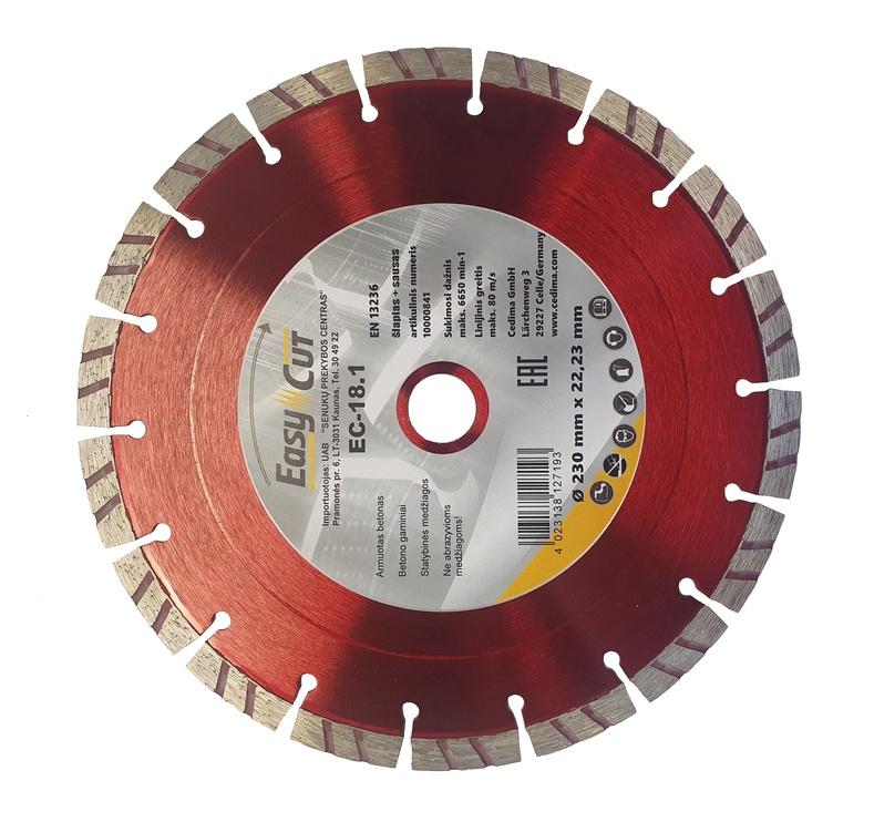 Dimanta griezējdisks Cedima EC-18, 180x2,2x23mm