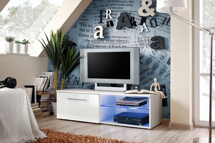 TV galds ASM Bono IV, balta, 1200x450x350 mm