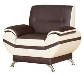 Kanclers Livonia Armchair Eco Leather Dark Brown/Cream