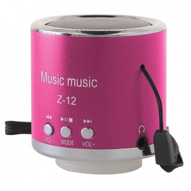 Belaidė kolonėlė Global Technology Mini Speaker Z-12 Pink