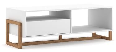 Журнальный столик Vivaldi Meble Oslo, белый/бук, 1190x500x413 мм