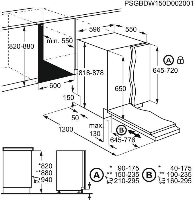 Įmontuojama indaplovė Electrolux EES27100L