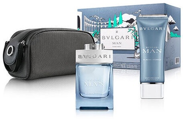 Bvlgari Man Glacial Essence 100ml EDP + 100ml After Shave Balm + Pouch